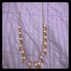 J. Crew Pearl Tassel Necklace